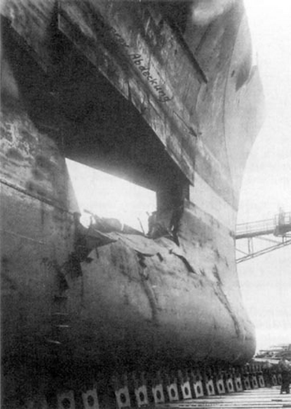 Kriegsmarine battleship KMS Gneisenau during operation Juno 03