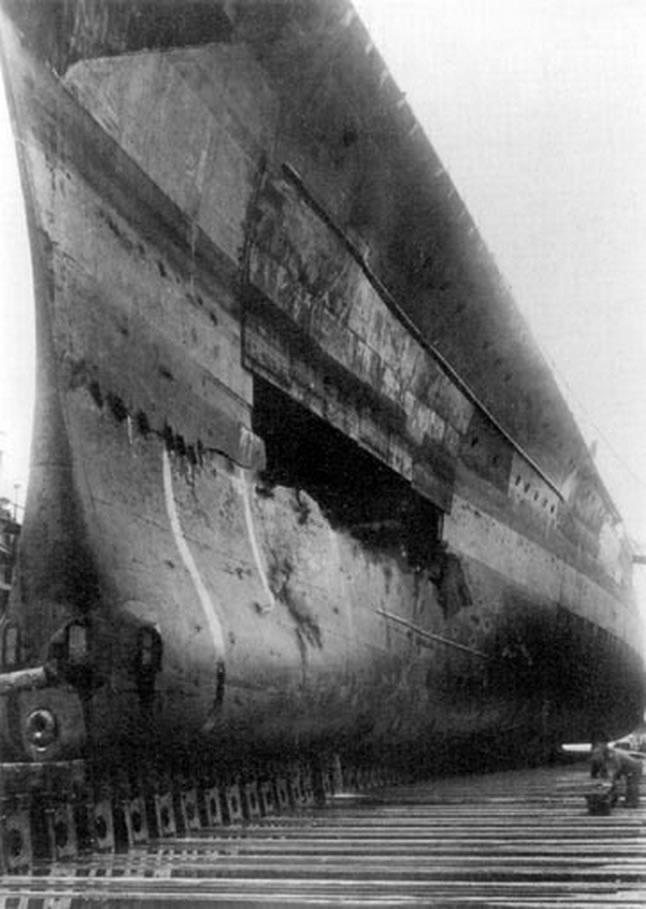 Kriegsmarine battleship KMS Gneisenau during operation Juno 04