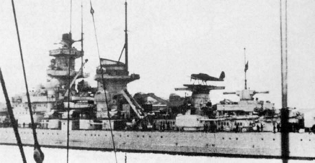 Kriegsmarine battleship KMS Gneisenau during operation Nordmark 01