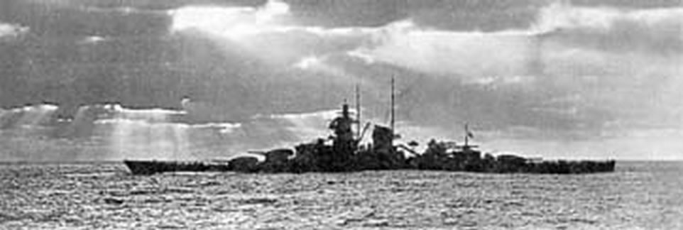 Kriegsmarine battleship KMS Gneisenau during operation berlin 05