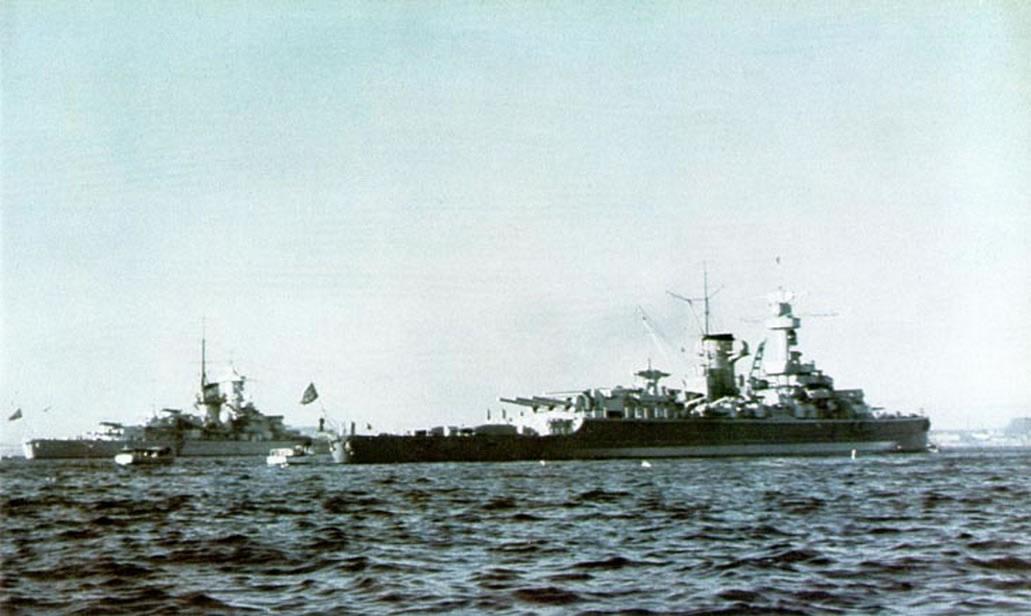 Kriegsmarine battleship KMS Gneisenau in color 01