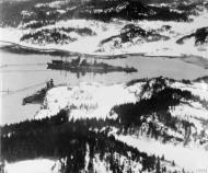 Asisbiz German warships Admiral Scheer and Prinz Eugen lying in Lo Fjord (Drontheim) Norway IWM C5627