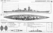 Kriegsmarine Scharnhorst class battlecruisers battleship KMS Scharnhorst 02