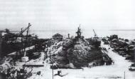 Kriegsmarine battleship KMS Gneisenau in drydock Brest France 1941 01