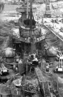 Asisbiz Kriegsmarine battleship KMS Gneisenau in drydock Brest France 1941 04