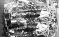 Kriegsmarine battleship KMS Gneisenau in drydock Brest France 1941 06