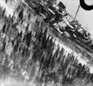 Asisbiz Spitfire from RAF 1PRU showing the German battleship Tirpitz moored in Aasfjord Norway IWM C2355