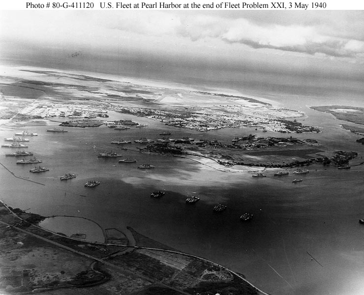 Archive USN photos showing Battleship Row before the attach on Perl Harbor Hawaii 3rd May 1940 01