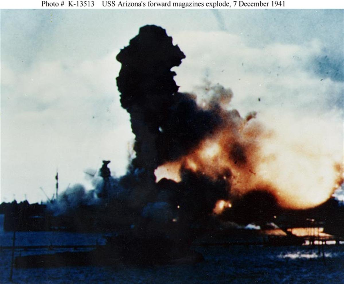 Archive USN photos showing the devastation caused by IJN attack on Perl Harbor Hawaii 7th Dec 1941 04