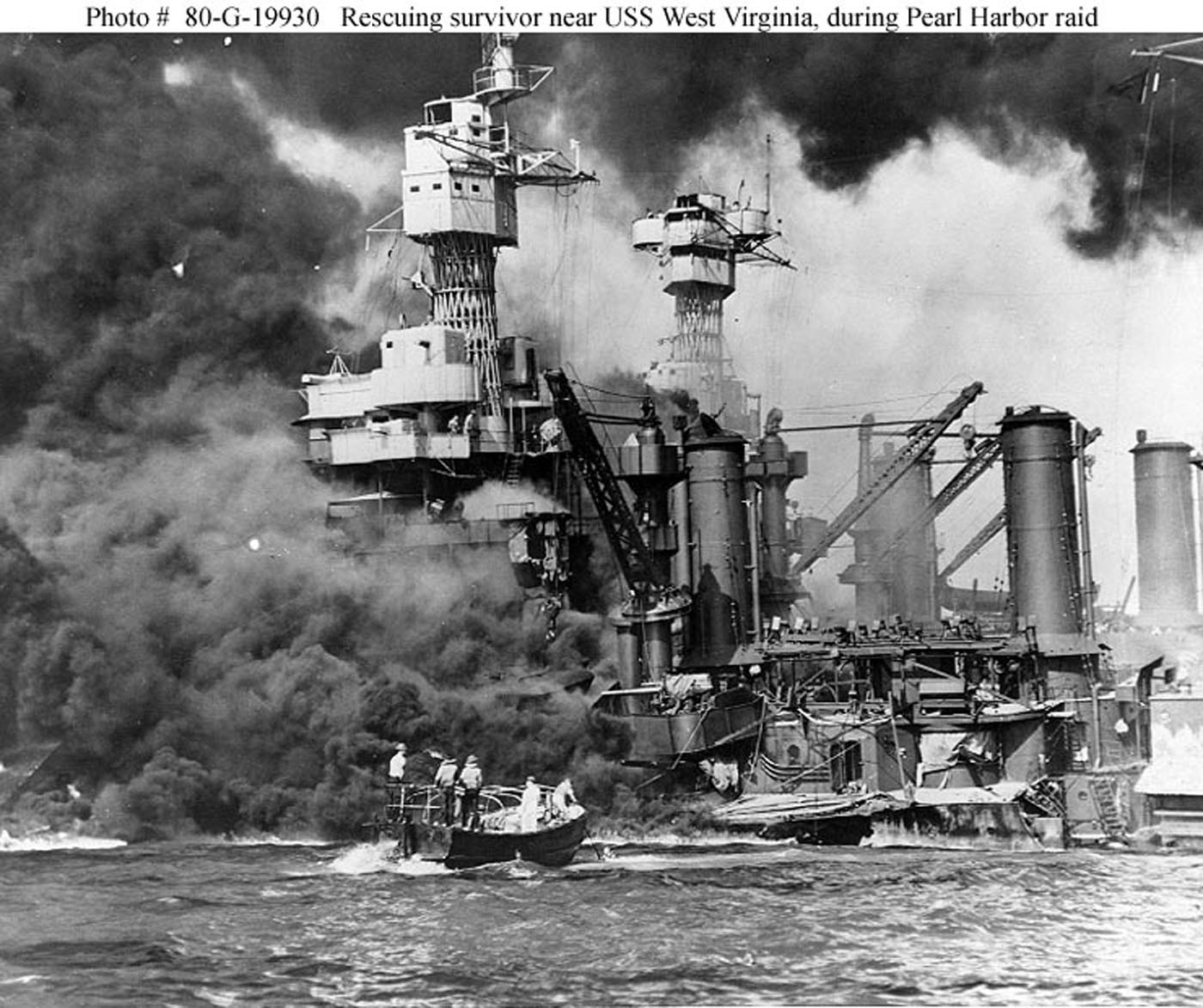 Archive USN photos showing the devastation caused by IJN attack on Perl Harbor Hawaii 7th Dec 1941 06