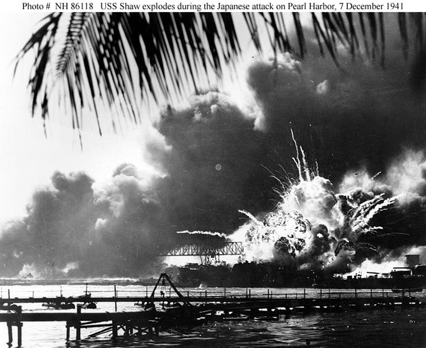 Archive USN photos showing the devastation caused by IJN attack on Perl Harbor Hawaii 7th Dec 1941 08