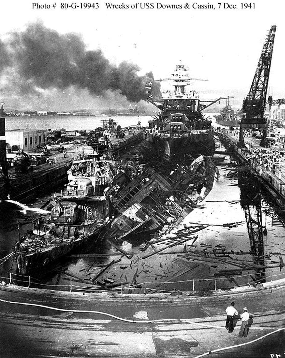 Archive USN photos showing the devastation caused by IJN attack on Perl Harbor Hawaii 7th Dec 1941 09