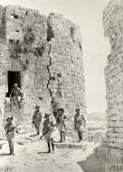 Asisbiz Australian troops among the ruins of the old Crusader castle at Sidon Lebanon 1941 IWM