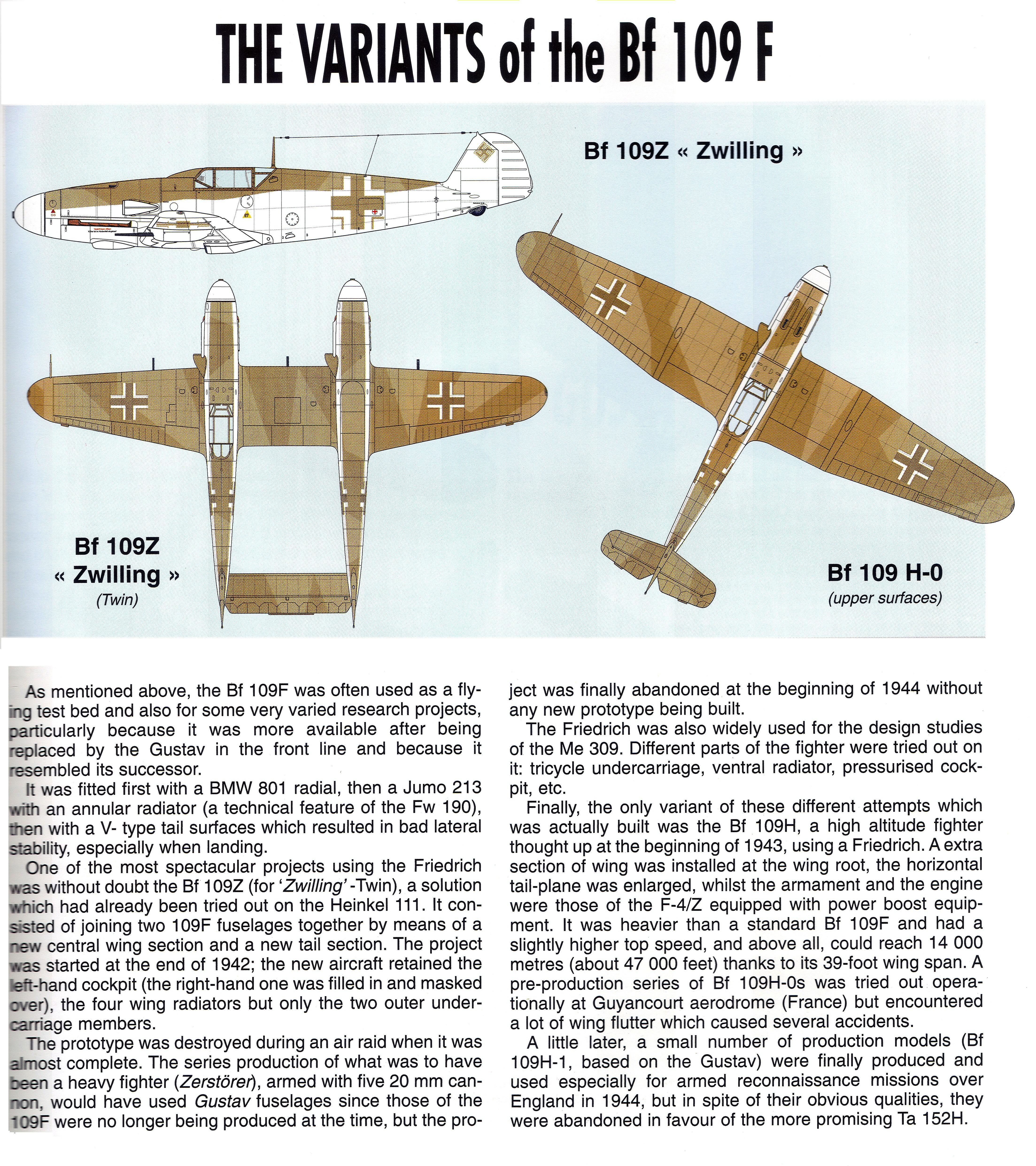 Art Messerschmitt Bf 109F mark variants 03