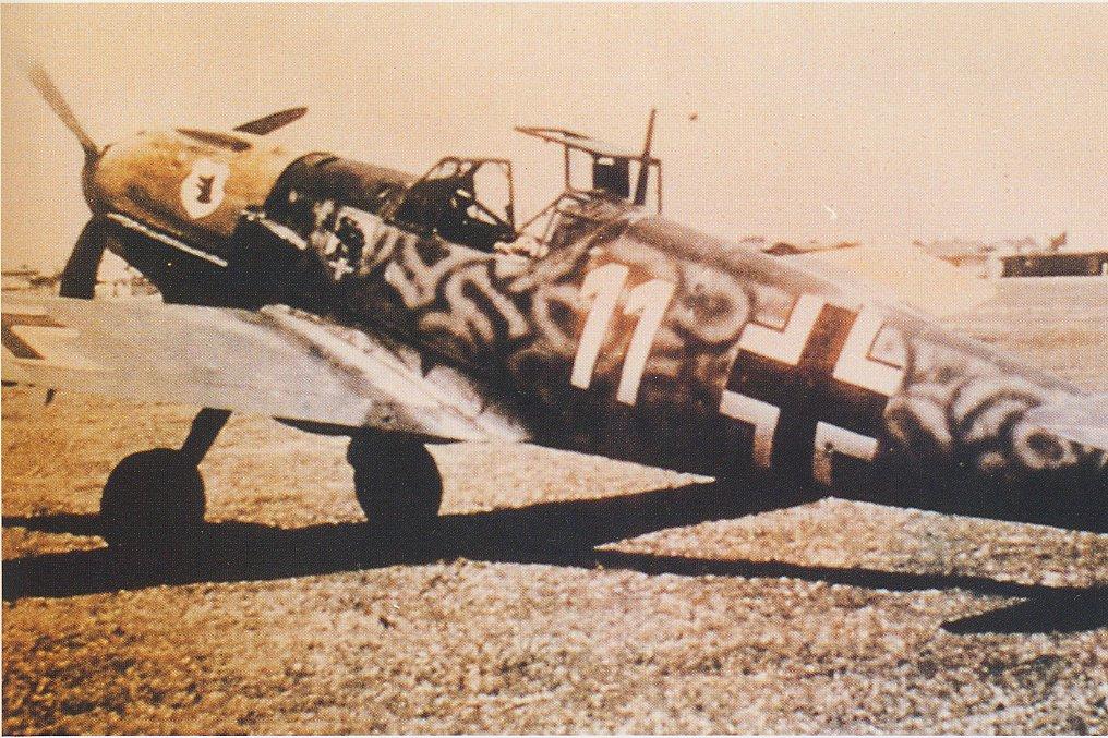 Bf 109E III.JG77 (W11+) exII.JG54 Balkans May 1941 02