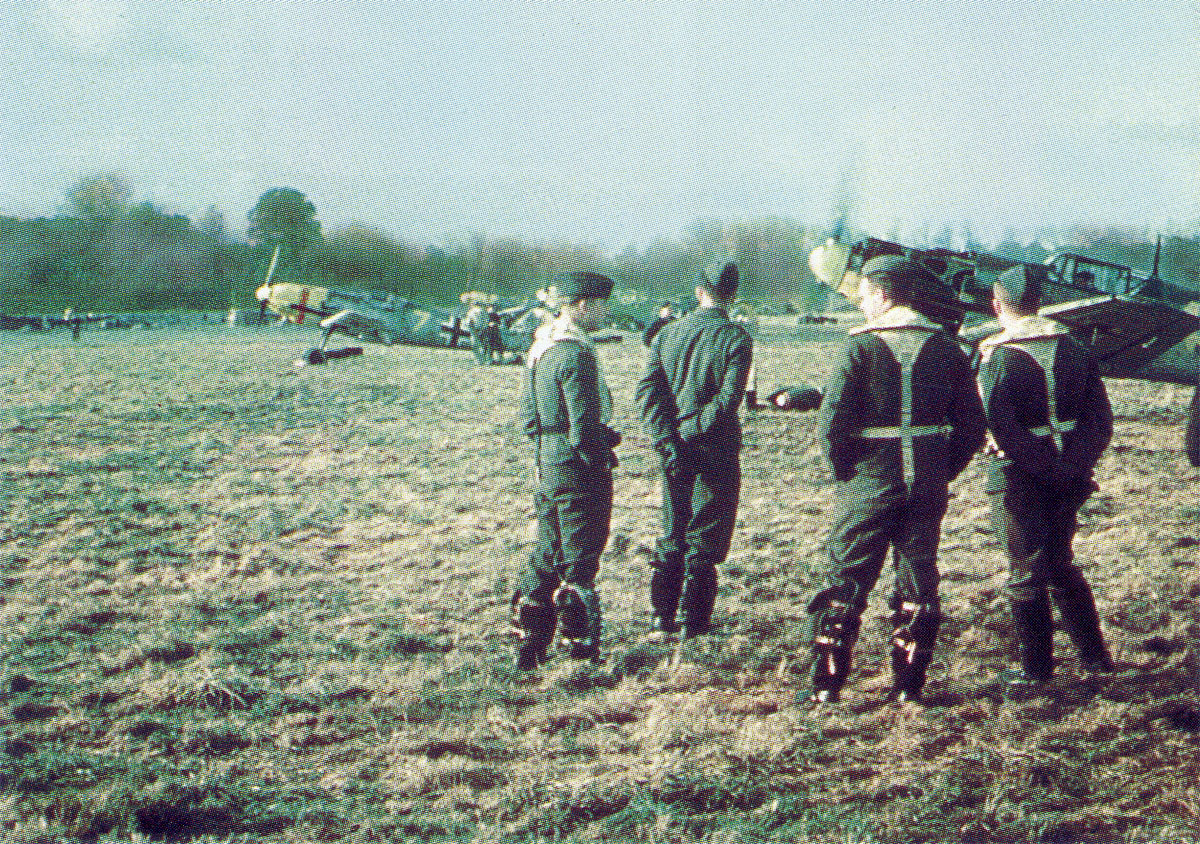Bf 109E JG53 (Y4+I) in the foreground France 1940