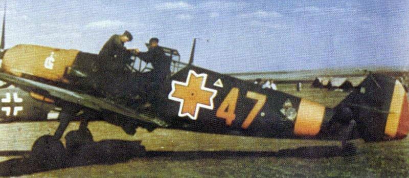 Bf 109E RRAF Gr7 Yellow 47