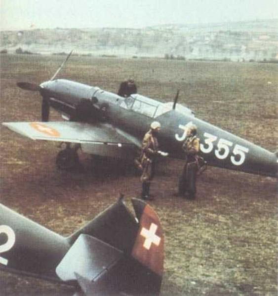 Bf 109E3 Swiss Fliegertruppe J 355