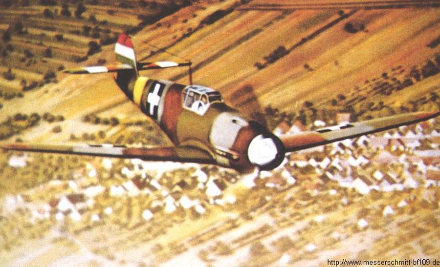 Bf 109F RHAF experimental camouflage scheme 01