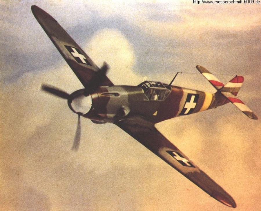 Bf 109F RHAF experimental camouflage scheme 03