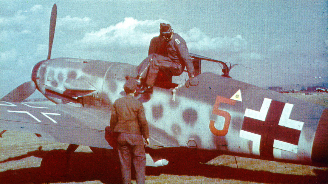 Bf 109G10 2.JG300 (Red 5+) Borkheide Airfield Germany 1944 01