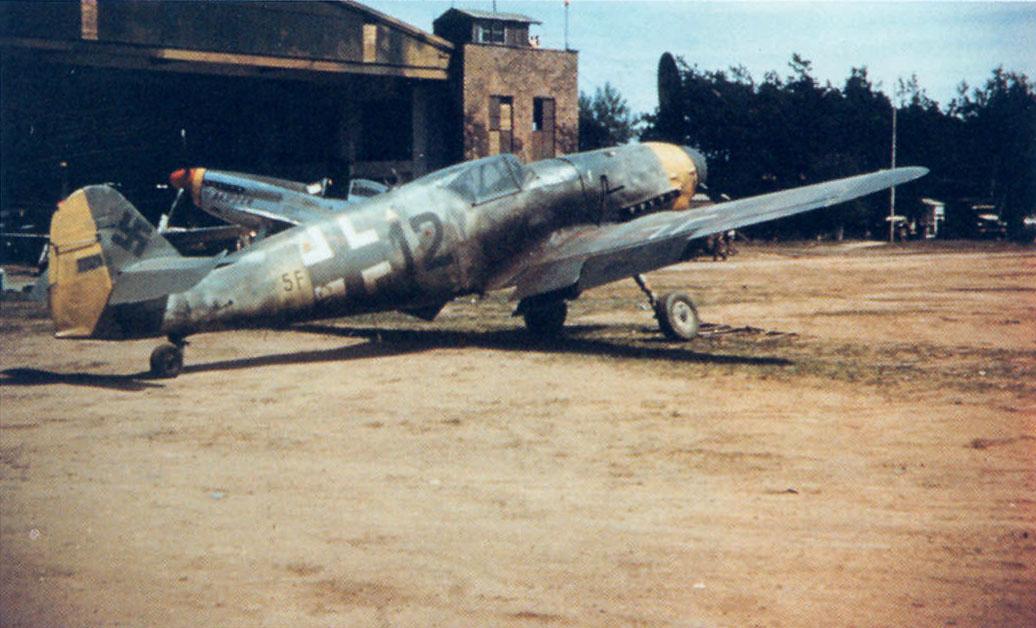 Bf 109G10 2.NAG14 (12+5F) WNr 770269 Furth Germany May 1945 01