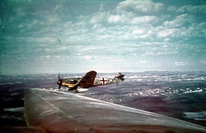Bf 109G4 1(F)124 Hans Peter Dautzenberg G2+WH on patrol 1943 44