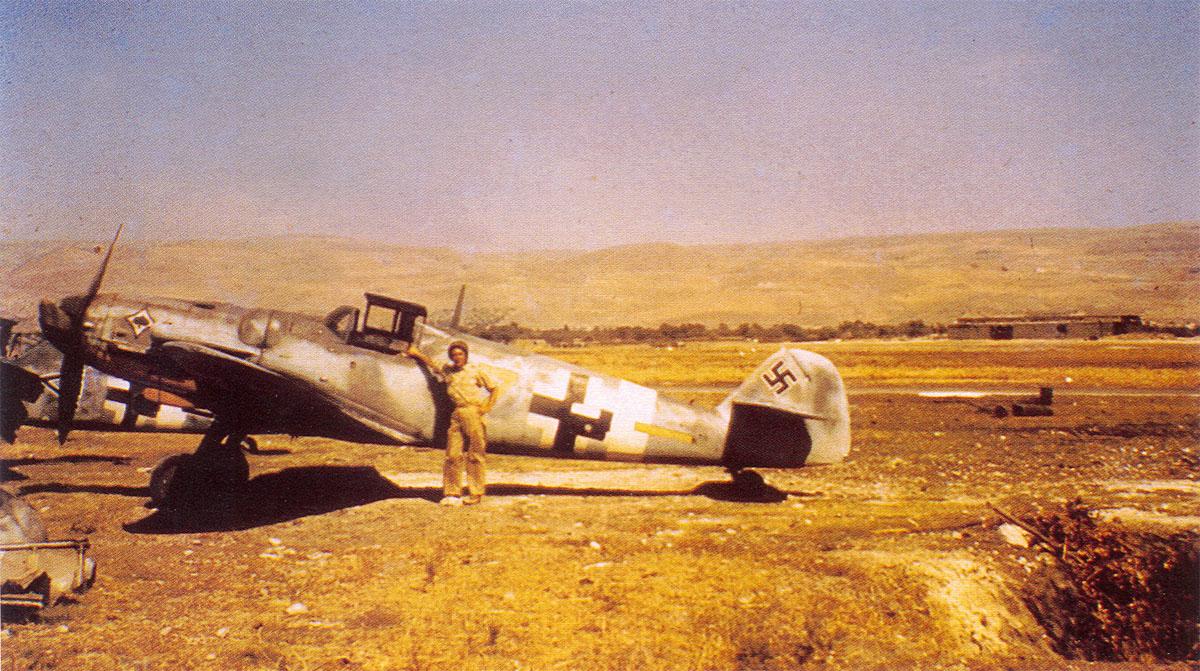 Bf 109G6 6.JG53 (Y7+ ) WNr 18068 Sicily 1943 01