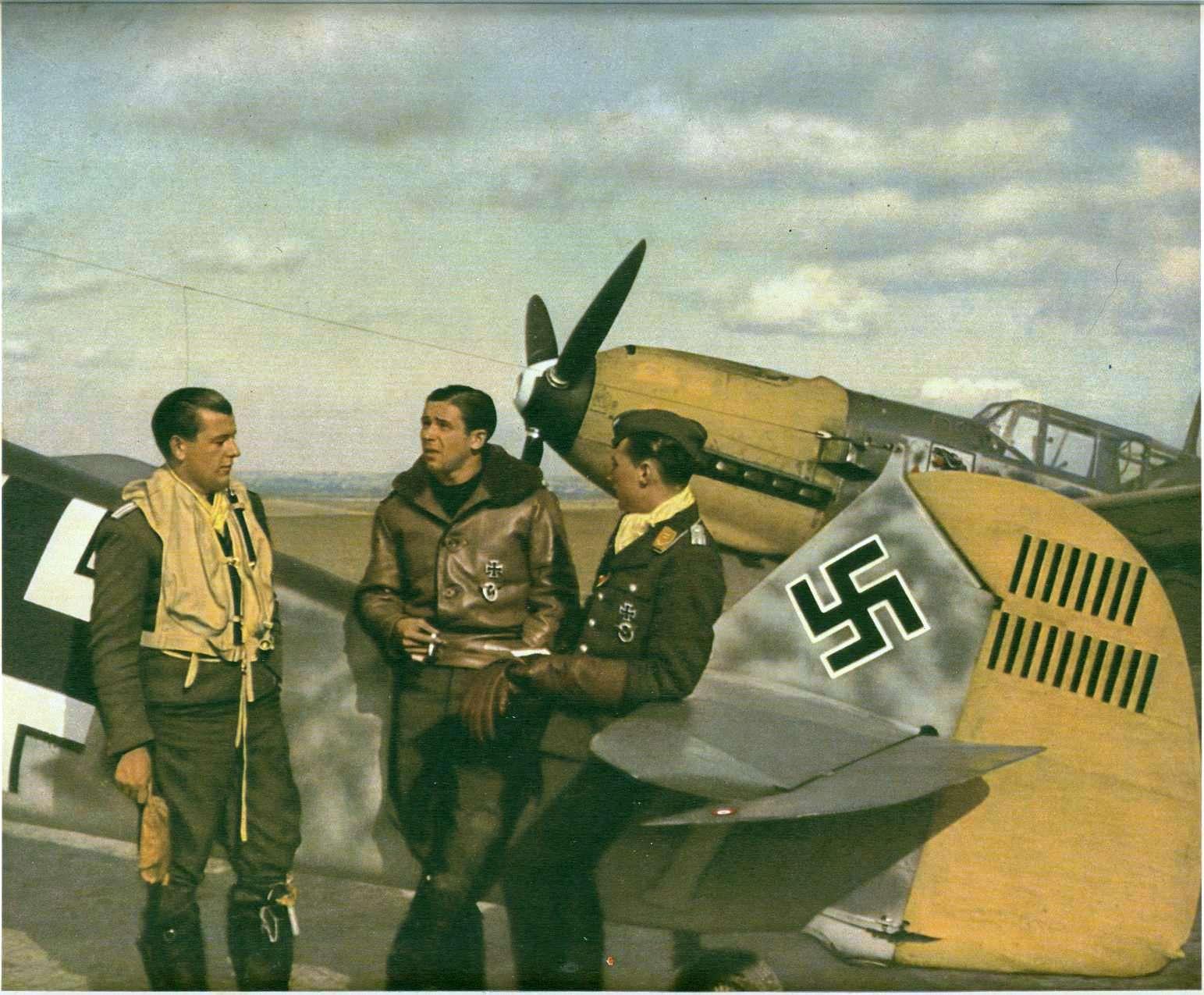 Color photograph .JG54 Hans Philipp Coquelles France Aug 1940