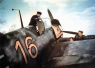 Asisbiz Bf 109E3 JG53 Yellow 16 undergoing routine field maintanence