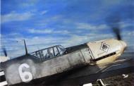 Asisbiz Bf 109E4 7.JG53 (W6+I) Herbert Schramm France June 1940