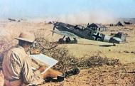 Asisbiz Bf 109E7Trop 2.JG27 (B4+) North Africa 1941