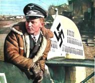 Asisbiz Color photograph Walter Oesau Bf 109E4 JG3 Wilhelm Balthasar 1940