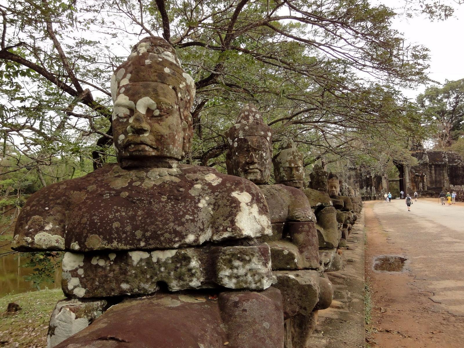 Devas Statues on the bridge leading to South Gate Jan 2010 04