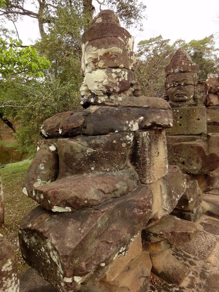 Devas Statues on the bridge leading to South Gate Jan 2010 20