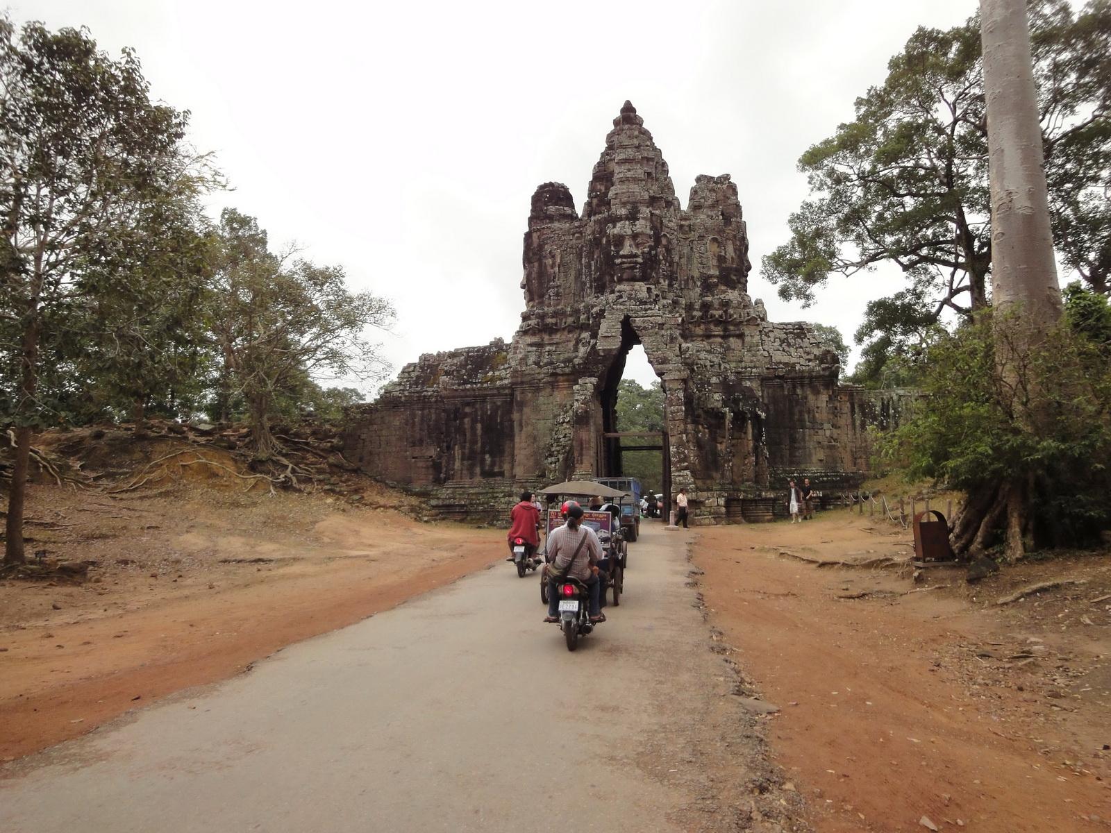 Face tower of the South Gate showing Avalokiteshvara Jan 2010 11