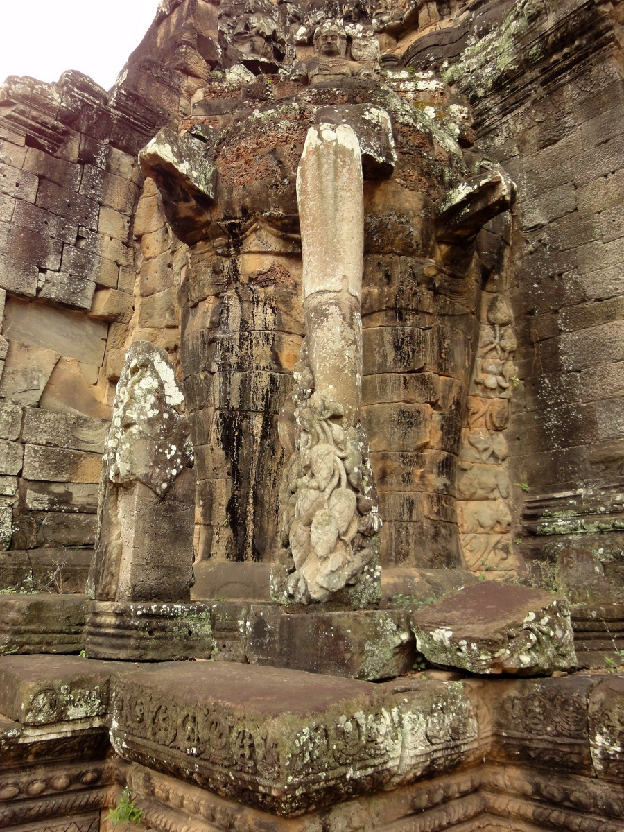 Victory Gate elephants supporting Avalokiteshvara Siem Reap 04
