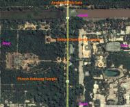 Asisbiz Aerial View of Angkor South Gate labeled