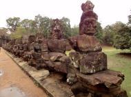 Asisbiz Asuras and Devas Statues on the South Gate bridge Jan 2010 03