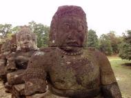 Asisbiz Asuras and Devas Statues on the South Gate bridge Jan 2010 06