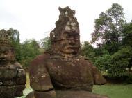 Asisbiz Asuras and Devas Statues on the South Gate bridge Jan 2010 10