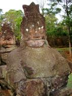 Asisbiz Asuras and Devas Statues on the South Gate bridge Jan 2010 15