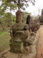 Asisbiz Devas Statues on the bridge leading to South Gate Jan 2010 14