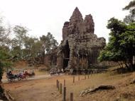 Asisbiz Face tower of the South Gate showing Avalokiteshvara Jan 2010 10