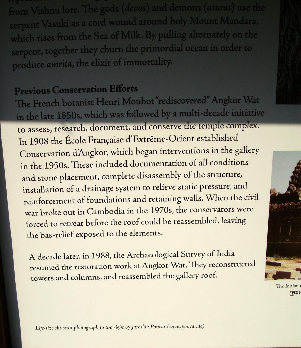 1 Angkor Wat notice board Churning of the sea of milk 0B