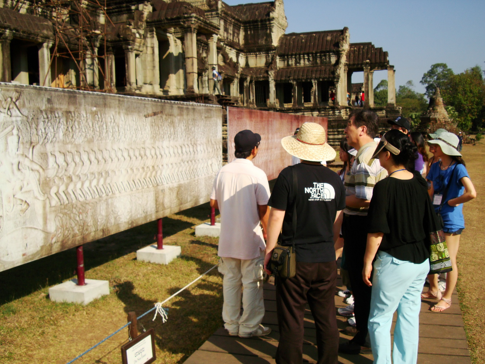1 Angkor Wat notice board Churning of the sea of milk 0D