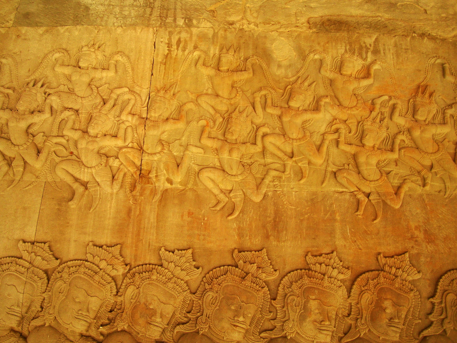 Churning of the sea of milk asuras tug of war with apsaras above 06