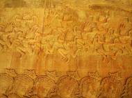 Asisbiz Churning of the sea of milk asuras tug of war with apsaras above 06