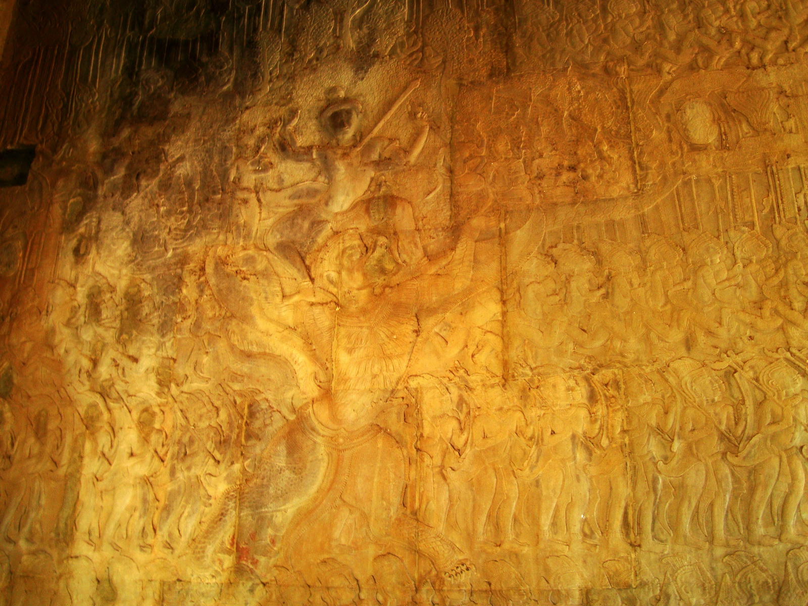 Angkor Wat Bas relief N Gallery W Wing Battle of Devas and Asuras 05