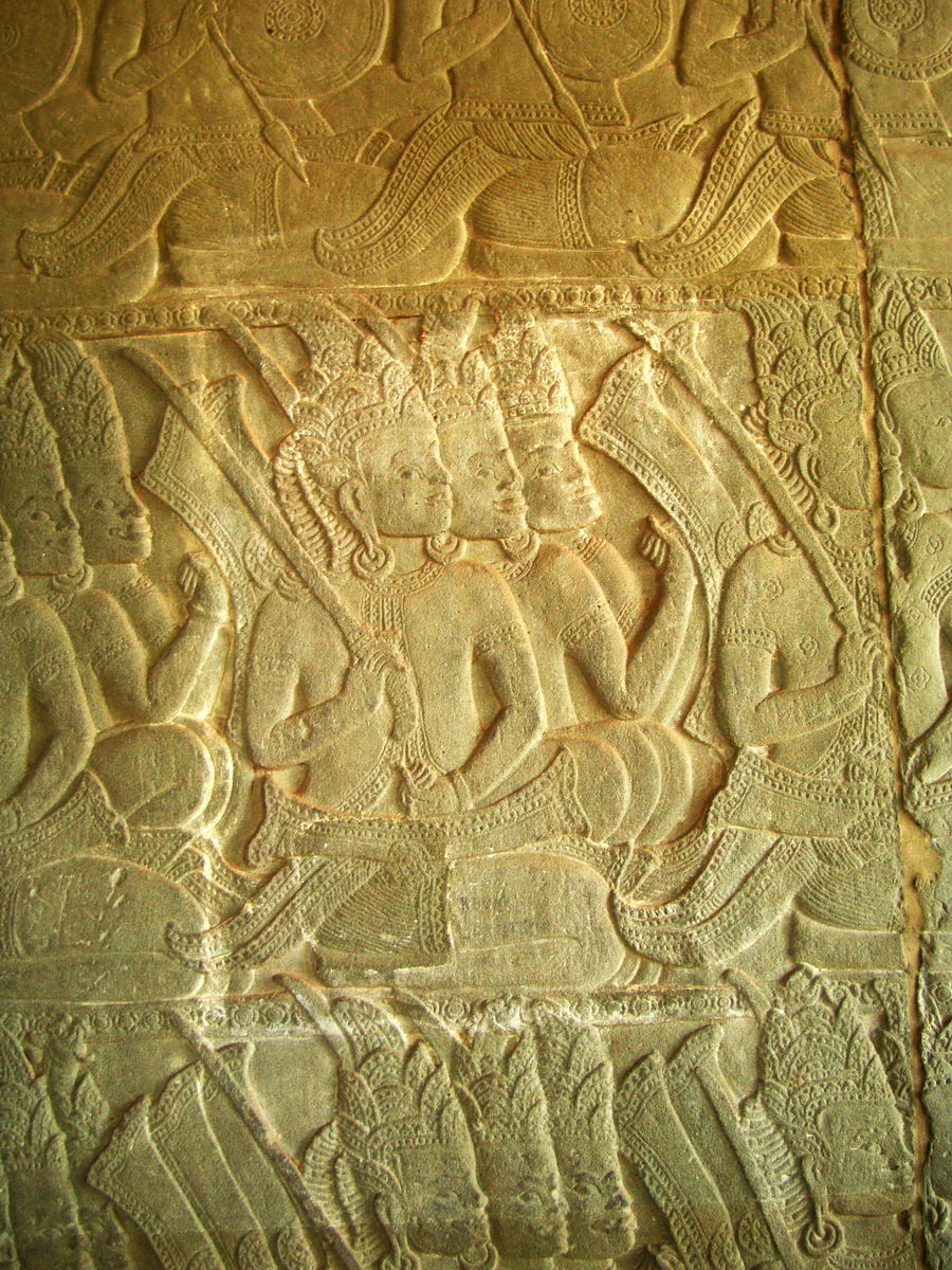 Angkor Wat Bas relief N Gallery W Wing Battle of Devas and Asuras 10